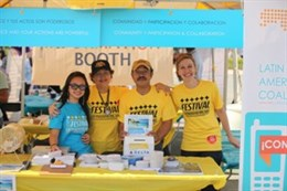 Volunteers and staff at the 21st Annual Latin American Festival in Charlotte, NC