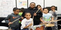 Music students at Expand Ed 182
