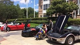 Corvettes 4 Kids did a car show for the kids of the Ronald McDonald House