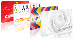 Charity gift card for birthday, sympathy and anniversary.