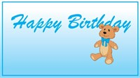 Birthday - Blue Teddy Bear