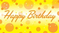 Birthday - Yellow