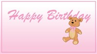 Birthday - Pink Teddy Bear